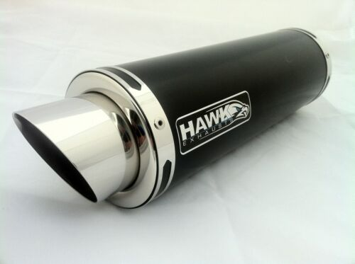 Kawasaki ZX6R ZX-6R B1H B2H 02-04 Powder Black Stubby GP Race Exhaust Can