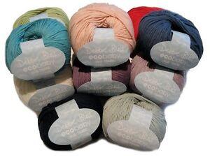 Debbie-Bliss-Eco-Baby-100-Organic-Cotton-Hand-Knitting-Yarn-50g-Various-Shades