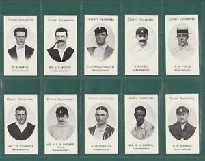 CRICKET-TADDY-WARWICKSHIRE-COUNTY-CRICKETERS-SET-OF-15-CARDS-REPRINTS