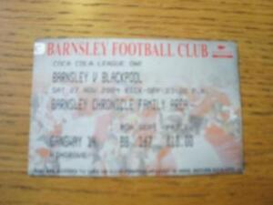 27112004 Ticket Barnsley v Blackpool  Slight Crease - <span itemprop=availableAtOrFrom>Birmingham, United Kingdom</span> - Returns accepted within 30 days after the item is delivered, if goods not as described. Buyer assumes responibilty for return proof of postage and costs. Most purchases from business s - Birmingham, United Kingdom