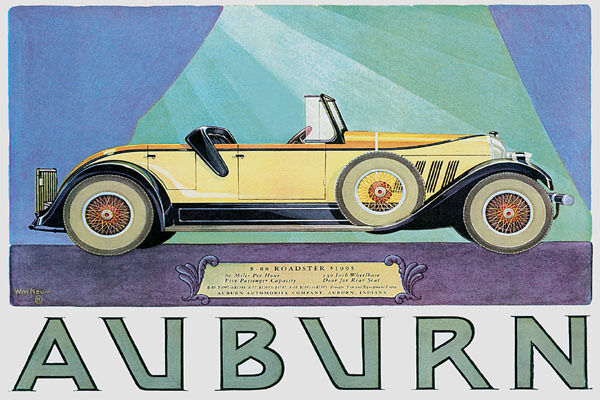 AUBURN ROADSTER AUTOMOBILE AMERICAN LUXURY CAR VINTAGE POSTER REPRO 12x16