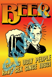 Beer-07-Old-Time-Funny-Tin-Sign-Art-Sticker-Toolbox-Coozie-Cooler-Icebox-New