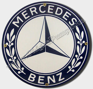 Mercedes benz sl 450 auto car dealer 12 porcelain sign si for Mercedes benz sign in