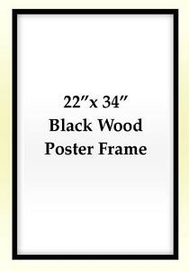 image is loading 22x34 poster frame solid wood black fully assembled