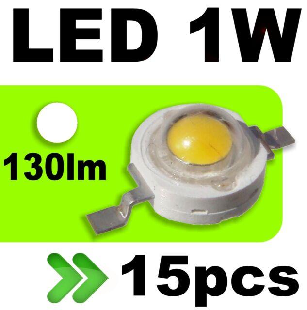 539/15# LED 1W Blanc pur 130lm --- 15pcs