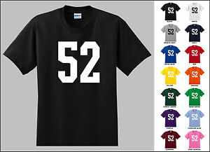 Number-52-Fifty-Two-T-Shirt