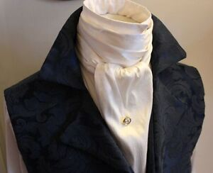 Wholesale-Regency-Victorian-Ascot-Cravat-Tie-Ivory-Dupioni-Silk-6x78