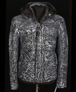 Ghost-Protocol-Mission-Impossible-Blue-Men-039-s-Hooded-Real-Stained-Leather-Jacket