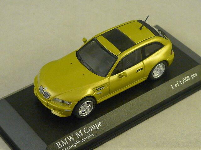 MINICHAMPS 400029060 -  BMW M Coupé 1999 jaune métal  1 43  bas prix
