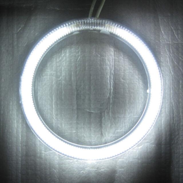 1 X FUll 76MM CAR MOTORCYCLE CCFL ANGEL EYES HALO RINGS BULBS LAMPS - white