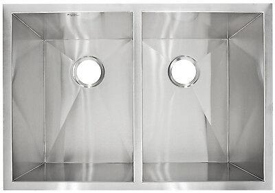 """Kitchen sink Modern Undermount Stainless Steel 29"""" x 10"""" Deep LP5 by LessCare"""