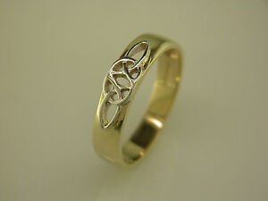 image is loading 14k gold irish handcrafted celtic knot wedding ring - Celtic Knot Wedding Rings