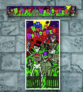 Bargain Happy Halloween Skeleton Horror Party Door Poster Banner Decoration Prop Ebay