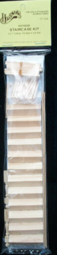 Half Scale - Staircase Kit 1:24 Dollhouse wooden miniature #H7000 steps