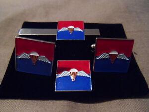 7-Para-RHA-Cufflink-Tie-slide-lapel-pin-set-parachute-Horse-Artillery-RA