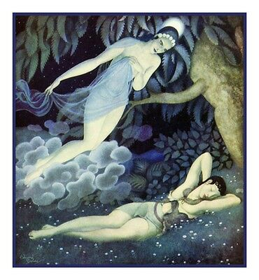Little Mermaid by Edmund Dulac Counted Cross Stitch Chart