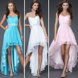 Formal-Gown-Bridesmaid-Cocktail-party-qween-Prom-Ball-Chiffon-Evening-dress-sexy