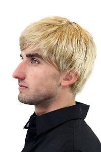 Herren-Peruecke-Maenner-Kurz-Jugendlich-Laessig-Modisch-Blond-Scheitel-GFW993-25