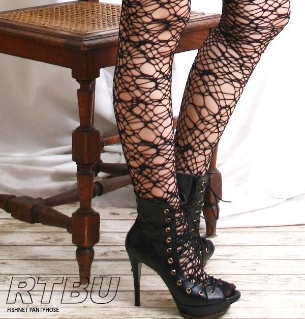 Goth Cobweb Spider Web Crochet Fishnet Tights Pantyhose