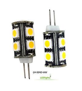 2 g4 base led light bulbs 12v ac dc for landscape lighting. Black Bedroom Furniture Sets. Home Design Ideas