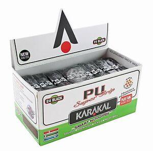 6-x-Karakal-Super-PU-Replacement-Grips-Black-Tennis-Squash-Badminton