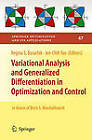 Variational Analysis and Generalized Differentiation in Optimization and Control by Springer-Verlag New York Inc. (Hardback, 2010)
