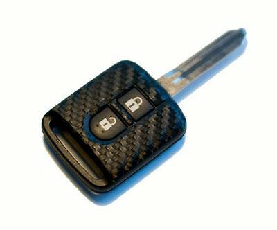 Nissan 350Z Micra Cube Qashqai Note Navara carbon fiber look key sticker
