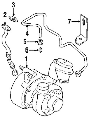 VOLKSWAGEN 028145757 GENUINE OEM RETURN LINE GASKET