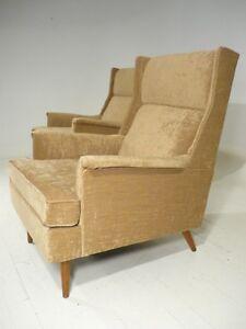 50 s mid century modern milo baughman tall wingback lounge chair eames