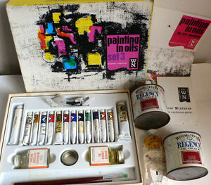 ARTISTS-OIL-PAINTS-WINSOR-amp-NEWTON-LARGE-AMOUNT-INC-TINS