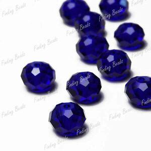 72-Blue-Faceted-Swarovski-Crystal-Rondelle-Bead-CR008