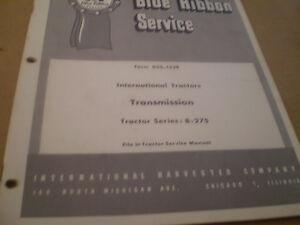 FARMALL-IH-SERVICE-MANUAL-B-275-TRANSMISSION-TRACTOR