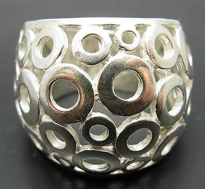 STERLING SILVER RING SOLID 925 BAND NEW SIZE H - V EMPRESS