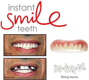 Dr-Bailey-039-s-Instant-Smile-False-1-Teeth-Cosmetic-Fake-Dentures-Oral-Dental