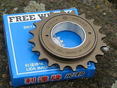 "20T Dicta Single Speed Freewheel in Chrome or Bronze, 1/8"""
