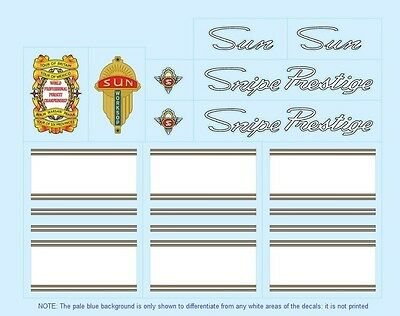 Sun Bicycle Decals-Transfers-Stickers #1