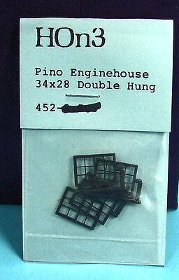 """HO/HOn3 RUSS SIMPSON #452 MICH-CAL PINO GRANDE 34""""X28"""" ENGINEHOUSE WINDOWS"""
