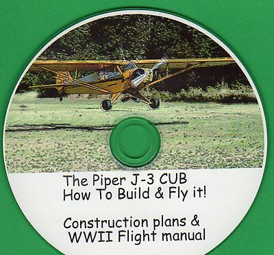 The Piper Cub J-3 How To Build & Fly It Plans & Manuals