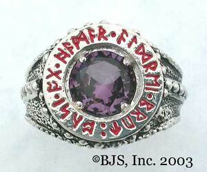 BADALI-Hobbit-Dwarven-Ring-Of-Power-Silver-Amethyst-LOTR-Tolkien-IN-STOCK
