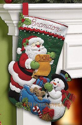 "Bucilla Santa's List ~ 18"" Felt Christmas Stocking Kit #86360  New 2012"