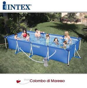 Piscina piscine fuori terra rettangolare 28273 con pompa 450x220x84 intex 320071 ebay - Piscine fuori terra intex ...