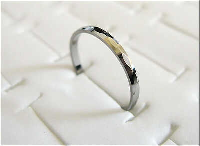 2mm Multi-Faceted Comfort fit Cute Lady's Tungsten Carbide Ring TR0203
