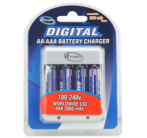 Digital-AA-AAA-Battery-Charger-with-4-Rechargeable-AA-Cell-Batteries