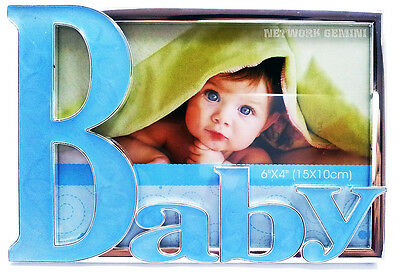 3D BLUE BABY BOY PHOTO FRAME - Birthday New born child christening