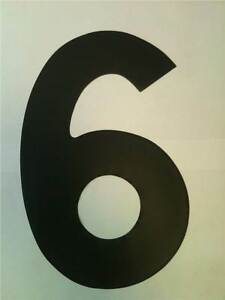 """11"""" Standard Style Race Number No.6 in Black Sold Each"""