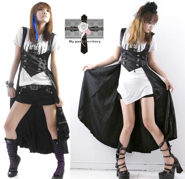 Visual Kei Royal Victorian EGL Vampire Txuedo Satin Gothic Emo Duke Vest Top