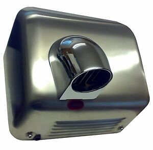 CHROMED-STEEL-Auto-Automatic-Electric-Hand-Dryer-DV2300S-Nozzle-Drier