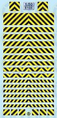 6105 - Decals Warnstreifen für Lkw/Baumaschinen 1:50