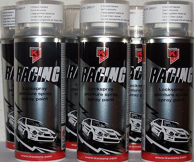 Auto K Racing 2-Schicht Klarlack 6 x 500ml Spraydose / Sprühdose
