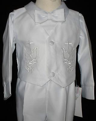 Baby Boy Communion Christening Baptism Outfit Suit w/cap size XS,SM,L,XL (0-24M)